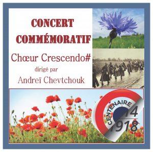 CD du Chœur Crescendo#. Concert commémoratif. 2018
