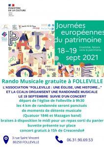 Concert Folleville Journées du patrimoine